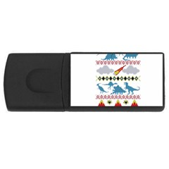 My Grandma Likes Dinosaurs Ugly Holiday Christmas USB Flash Drive Rectangular (4 GB)
