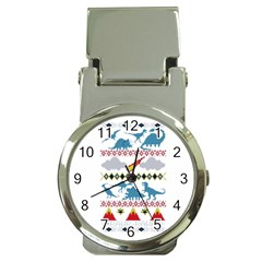 My Grandma Likes Dinosaurs Ugly Holiday Christmas Money Clip Watches
