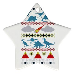 My Grandma Likes Dinosaurs Ugly Holiday Christmas Star Ornament (Two Sides)