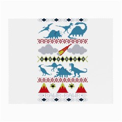 My Grandma Likes Dinosaurs Ugly Holiday Christmas Small Glasses Cloth (2-Side)