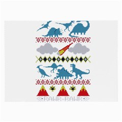 My Grandma Likes Dinosaurs Ugly Holiday Christmas Large Glasses Cloth (2-Side)