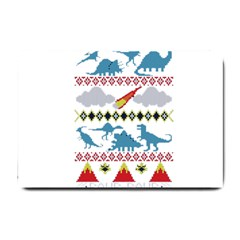 My Grandma Likes Dinosaurs Ugly Holiday Christmas Small Doormat