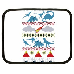 My Grandma Likes Dinosaurs Ugly Holiday Christmas Netbook Case (Large)