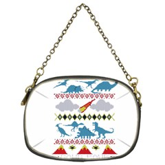 My Grandma Likes Dinosaurs Ugly Holiday Christmas Chain Purses (One Side)