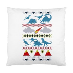 My Grandma Likes Dinosaurs Ugly Holiday Christmas Standard Cushion Case (Two Sides)