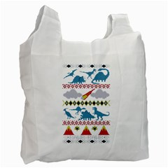 My Grandma Likes Dinosaurs Ugly Holiday Christmas Recycle Bag (One Side)