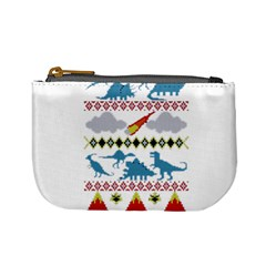 My Grandma Likes Dinosaurs Ugly Holiday Christmas Mini Coin Purses