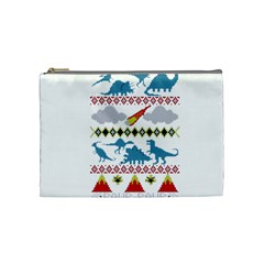 My Grandma Likes Dinosaurs Ugly Holiday Christmas Cosmetic Bag (Medium)
