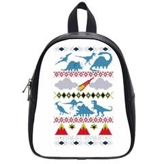 My Grandma Likes Dinosaurs Ugly Holiday Christmas School Bags (Small)