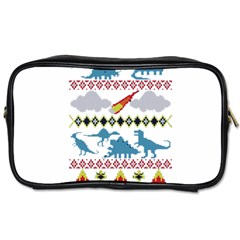 My Grandma Likes Dinosaurs Ugly Holiday Christmas Toiletries Bags 2-Side