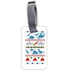 My Grandma Likes Dinosaurs Ugly Holiday Christmas Luggage Tags (Two Sides)