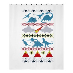 My Grandma Likes Dinosaurs Ugly Holiday Christmas Shower Curtain 60  x 72  (Medium)
