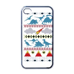 My Grandma Likes Dinosaurs Ugly Holiday Christmas Apple iPhone 4 Case (Black)