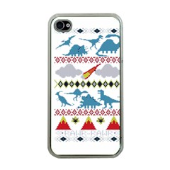 My Grandma Likes Dinosaurs Ugly Holiday Christmas Apple iPhone 4 Case (Clear)