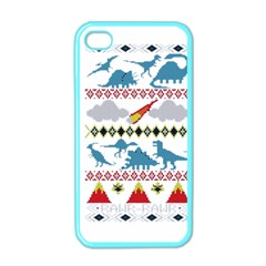 My Grandma Likes Dinosaurs Ugly Holiday Christmas Apple iPhone 4 Case (Color)