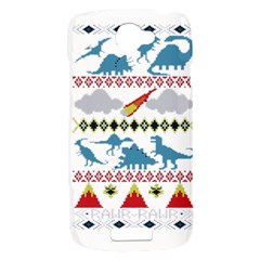 My Grandma Likes Dinosaurs Ugly Holiday Christmas HTC One S Hardshell Case