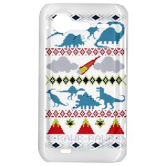My Grandma Likes Dinosaurs Ugly Holiday Christmas HTC Incredible S Hardshell Case