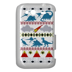 My Grandma Likes Dinosaurs Ugly Holiday Christmas HTC Wildfire S A510e Hardshell Case
