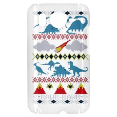 My Grandma Likes Dinosaurs Ugly Holiday Christmas HTC Desire HD Hardshell Case