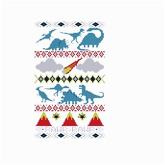 My Grandma Likes Dinosaurs Ugly Holiday Christmas Large Garden Flag (Two Sides)