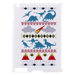 My Grandma Likes Dinosaurs Ugly Holiday Christmas Apple iPad 2 Hardshell Case (Compatible with Smart Cover)