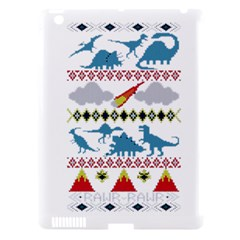 My Grandma Likes Dinosaurs Ugly Holiday Christmas Apple iPad 3/4 Hardshell Case (Compatible with Smart Cover)