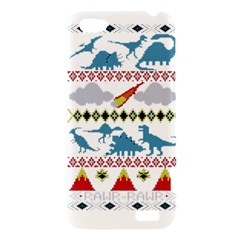 My Grandma Likes Dinosaurs Ugly Holiday Christmas HTC One V Hardshell Case