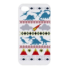 My Grandma Likes Dinosaurs Ugly Holiday Christmas Apple iPhone 4/4S Premium Hardshell Case