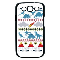 My Grandma Likes Dinosaurs Ugly Holiday Christmas Samsung Galaxy S III Case (Black)