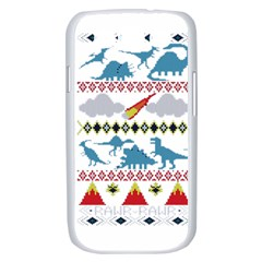 My Grandma Likes Dinosaurs Ugly Holiday Christmas Samsung Galaxy S III Case (White)