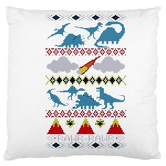 My Grandma Likes Dinosaurs Ugly Holiday Christmas Large Cushion Case (Two Sides)