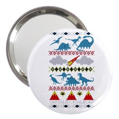 My Grandma Likes Dinosaurs Ugly Holiday Christmas 3  Handbag Mirrors