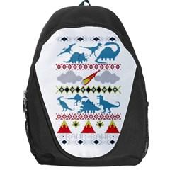 My Grandma Likes Dinosaurs Ugly Holiday Christmas Backpack Bag