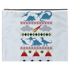 My Grandma Likes Dinosaurs Ugly Holiday Christmas Cosmetic Bag (XXXL)