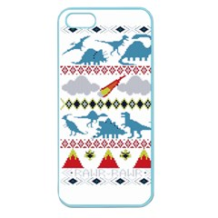My Grandma Likes Dinosaurs Ugly Holiday Christmas Apple Seamless iPhone 5 Case (Color)
