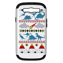My Grandma Likes Dinosaurs Ugly Holiday Christmas Samsung Galaxy S III Hardshell Case (PC+Silicone)
