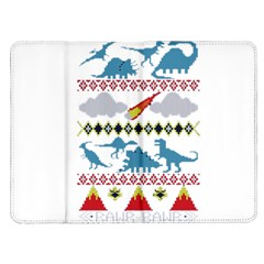 My Grandma Likes Dinosaurs Ugly Holiday Christmas Kindle Fire (1st Gen) Flip Case
