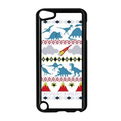 My Grandma Likes Dinosaurs Ugly Holiday Christmas Apple iPod Touch 5 Case (Black)