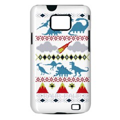 My Grandma Likes Dinosaurs Ugly Holiday Christmas Samsung Galaxy S II i9100 Hardshell Case (PC+Silicone)