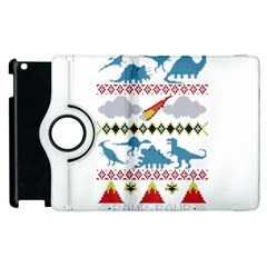 My Grandma Likes Dinosaurs Ugly Holiday Christmas Apple iPad 2 Flip 360 Case