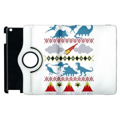 My Grandma Likes Dinosaurs Ugly Holiday Christmas Apple iPad 3/4 Flip 360 Case
