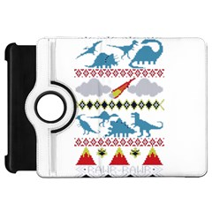 My Grandma Likes Dinosaurs Ugly Holiday Christmas Kindle Fire HD Flip 360 Case