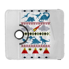 My Grandma Likes Dinosaurs Ugly Holiday Christmas Samsung Galaxy S  III Flip 360 Case