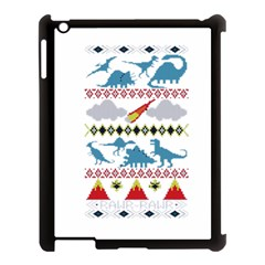 My Grandma Likes Dinosaurs Ugly Holiday Christmas Apple iPad 3/4 Case (Black)