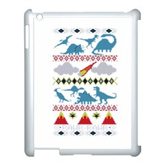 My Grandma Likes Dinosaurs Ugly Holiday Christmas Apple iPad 3/4 Case (White)