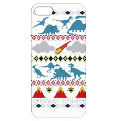 My Grandma Likes Dinosaurs Ugly Holiday Christmas Apple iPhone 5 Hardshell Case with Stand
