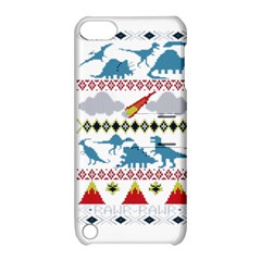My Grandma Likes Dinosaurs Ugly Holiday Christmas Apple iPod Touch 5 Hardshell Case with Stand