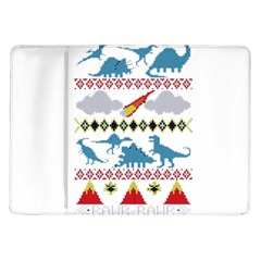 My Grandma Likes Dinosaurs Ugly Holiday Christmas Samsung Galaxy Tab 10.1  P7500 Flip Case