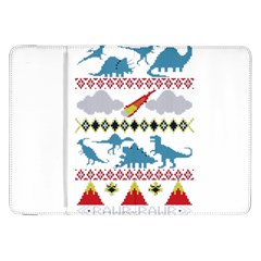 My Grandma Likes Dinosaurs Ugly Holiday Christmas Samsung Galaxy Tab 8.9  P7300 Flip Case