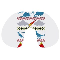 My Grandma Likes Dinosaurs Ugly Holiday Christmas Travel Neck Pillows